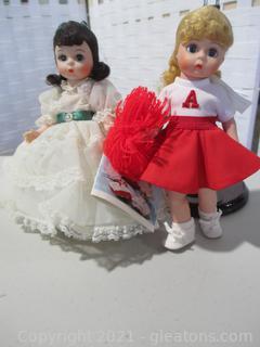 2 Madame Alexander Mini Dolls