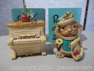 2 Pendelfin Hand Painted Figurines
