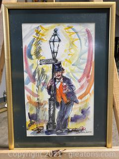 Beautiful Clown Painting