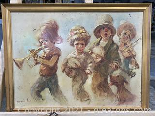 Vintage Minstrels Clowns Print