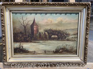 River Landscape Oil Painting