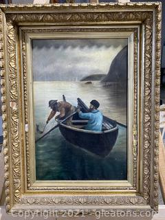 Two Fishermen in A Boat