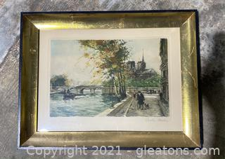 Signed and Numbered Charles Blondin Vintage Fine Art