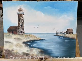 Beautiful Lighthouse Painting