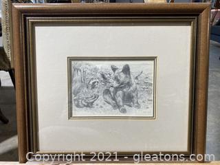 Vintage Animals Signed Print