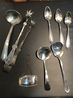 Lot of Vintage Serving Silverplate dated from 1948