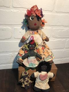 Lot of Mammie and hand made dolls