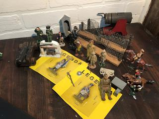 Lot of Manoil, Barclay, and Various Toy Soldiers