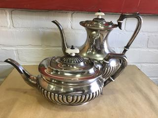 Antique English Silver Plate Tea and Coffee Pots