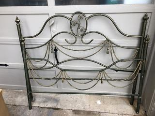 Full size painted iron bed frame