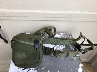 Military Water Canteen with back step and extra shoulder strap