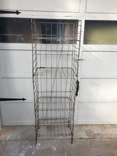 Vintage Metal Collaspible Bread Shelf