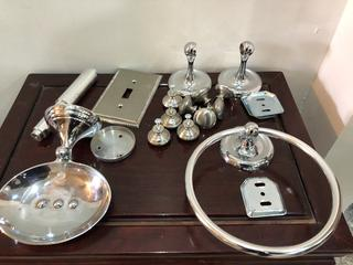 Lot of Chrome Bathroom Set
