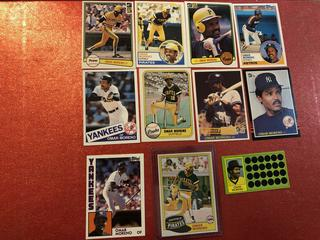 Lot of Omar Moreno Baseball Cards Various Teams #B
