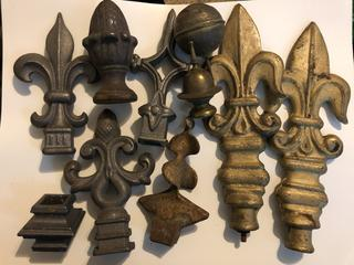 Lot of Vintage and Antique Finials