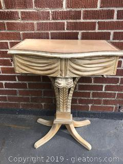 Handcarved White Mahogany Nightstand