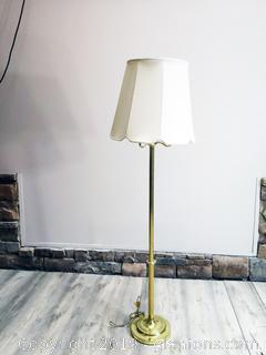 Gold Toned Floor Lamp