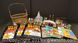 Lot Of Christmas Church And Figurnies
