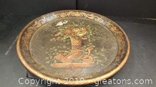 Large Vintage Decorative Platter