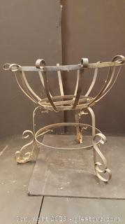 Black Vintage Wrought Iron Pot/Vase Holder