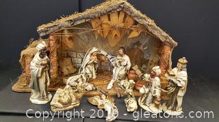 Nativity Scene Missing Couple Of Pieces Lighted