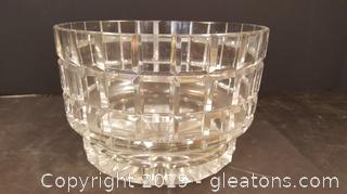 Very Nice Cut Crystal Glass Bowl, Very Heavy Tiffany Like