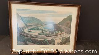"Framed Print ""The Horseshoe Curve"""