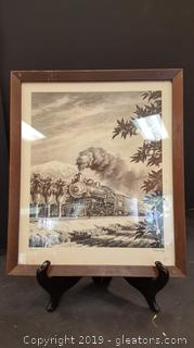 VTG Original Lithograph By: Harlan Hindley