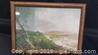 Vintage  Landscape Print