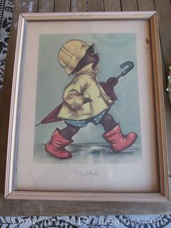 "1943 Lithograph ""City Slicker"" by Charlot Byj"