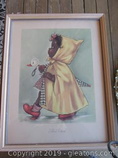 "1947 Lithograph ""Slick Chick"" By Charlot Byj"