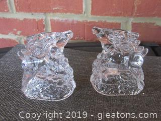 Marquis Waterford Crystal Reindeer Candle Holders