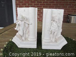 "Cherub Book-Ends ""Hide & Seek"" By Revival Art Company"