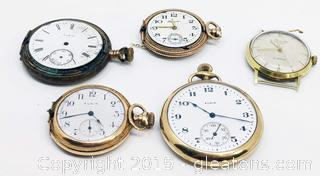 Vintage Watch Lot Elgin Primato Hampden