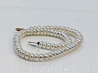Pearl Bracelet 14k Clasp