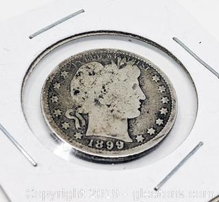 US Silver Coin Pre 1945 Quarter Dollar