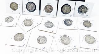 US Silver Quarters 1950s