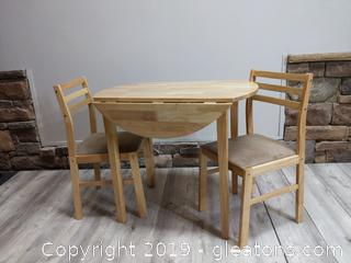 Coaster Furniture Drop Leaf Dining Table and Chairs