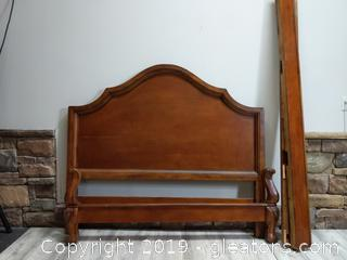 Vintage Queen Bed with Nice Details