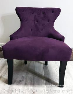 Beautiful Purple Suede Accent Chair