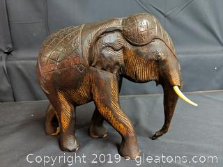 Hand Carved Elephant