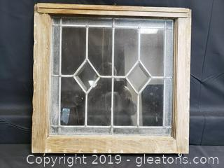 Vintage Stainless Window/Decor