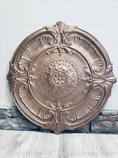 Round Tin/Metal Decorative Wall Art