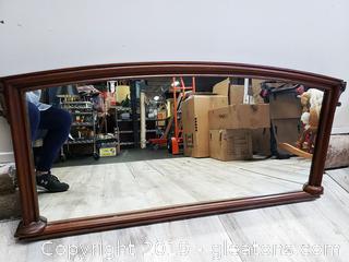 Antique Mantle Mirror Wood Frame