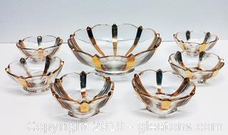 Beautiful Gold Trim Dessert Bowl Set