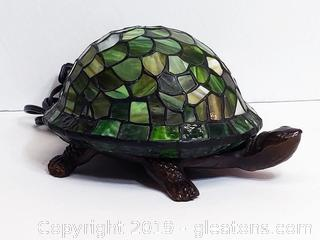 Stained Glass Turtle Table Lamp