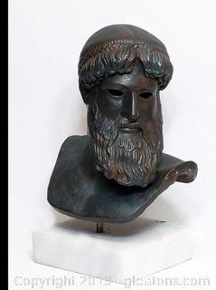 Artemision Zeus Poseidon Greek God Bronze Bust