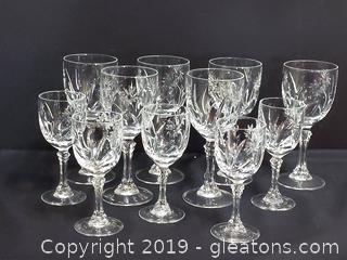 Beautiful Set of Crystal Cordial & Liqueur Glasses