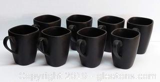 Tienshan Signed Stoneware 8 Large Coffee Mugs