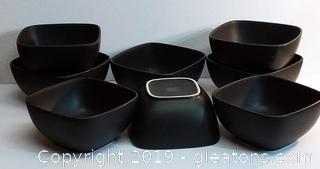 Signed Tienshan Stoneware Bowls